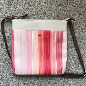 Kelly & Katie Adjustable Pink Crossbody Bag